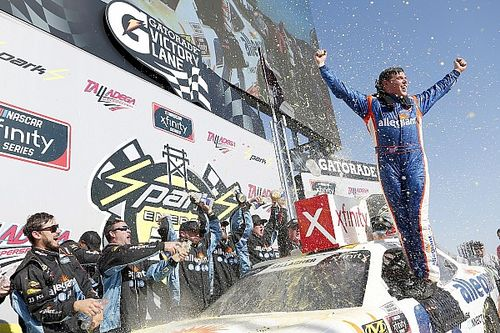 Spencer Gallagher earns shock first win in Talladega Xfinity race