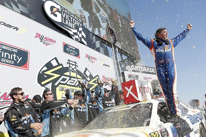 Spencer Gallagher earns shock first win in Talladega Xfinity race