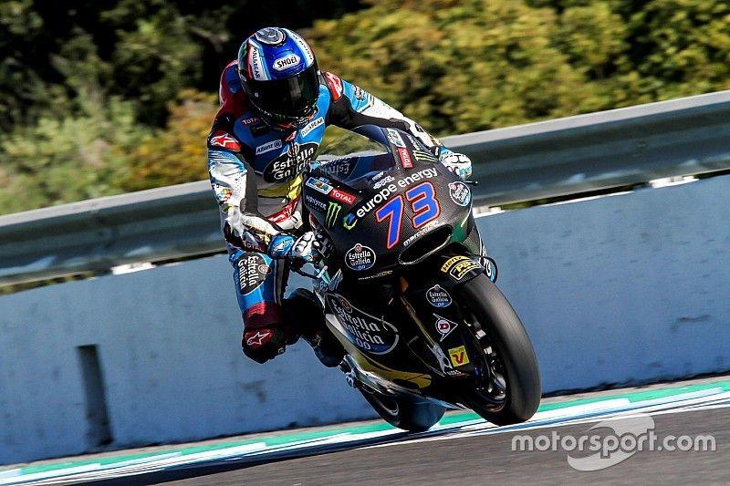 Terminaron las pruebas de Moto2 y Moto3 en Jerez