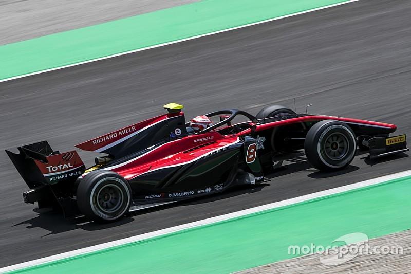 F2バルセロナレース1:VSC4回出動の乱戦。ラッセル優勝、牧野悔しい9位