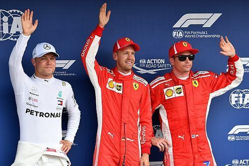 Starting grid F1 GP Jerman 2018
