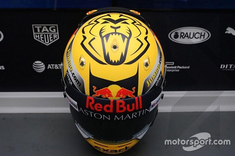 Verstappen bemutatta a 2019-es F1-es sisakfestését: nagyon más