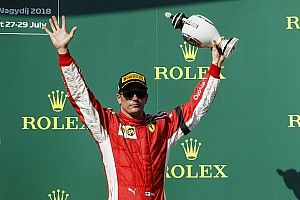 """El podio de Hungría no fue """"un final muy feliz"""" para Raikkonen"""