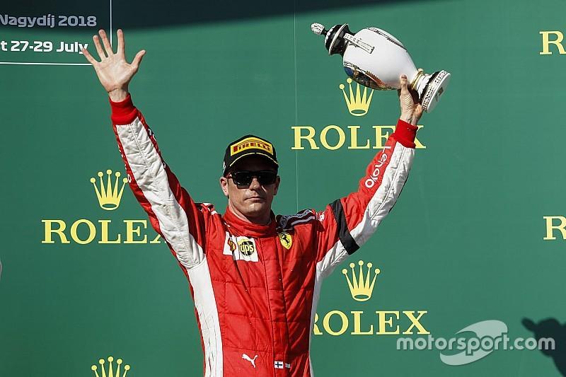 """Raikkonen: """"No puedo decir que fue una buena carrera, incluso si subí al podio"""""""