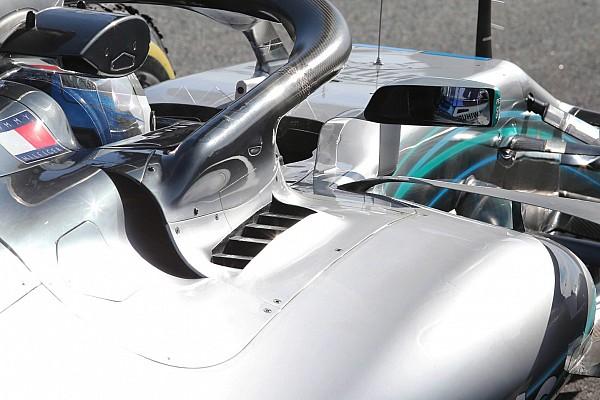 Formula 1 Mercedes: c'è uno sfogo di aria calda dietro all'attacco dell'Halo