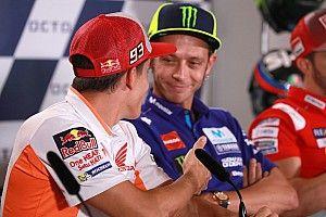 Rossi refuses Marquez handshake gesture