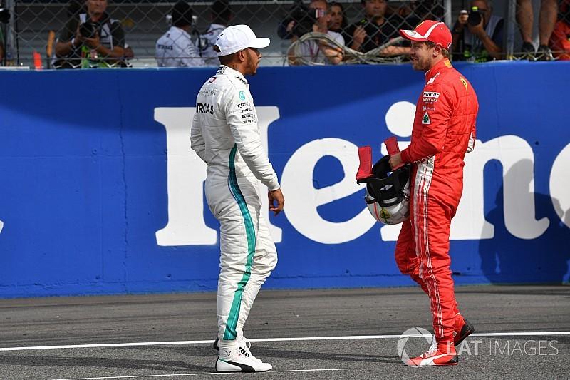 """Hamilton dice que dejó """"espacio suficiente"""" a Vettel"""