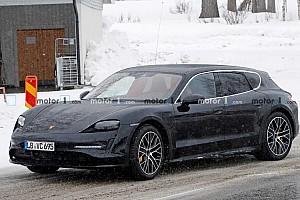 Szinte teljesen álcázatlanul tesztelik már a Porsche Taycan kombi verzióját