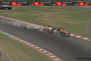 Verstappen, Norris collide in Redline 'Real Racers' event