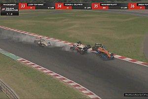 Verstappen, Norris collide in Redline 'Real Racers' event