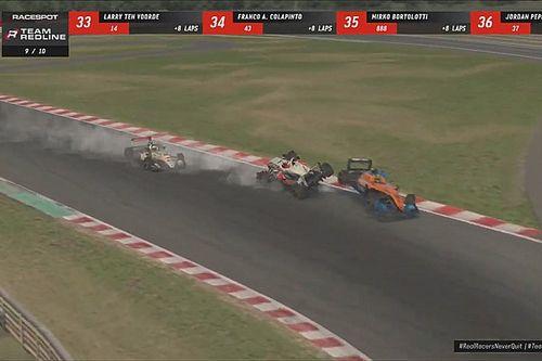 Verstappen y Norris chocan cuando lideran carrera virtual