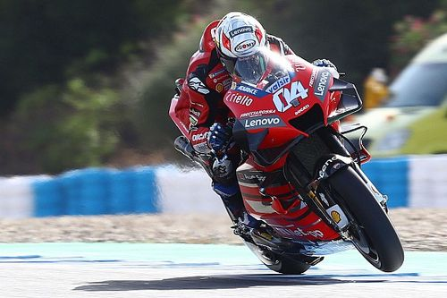 Яркое начало. Аварии первой квалификации сезона MotoGP