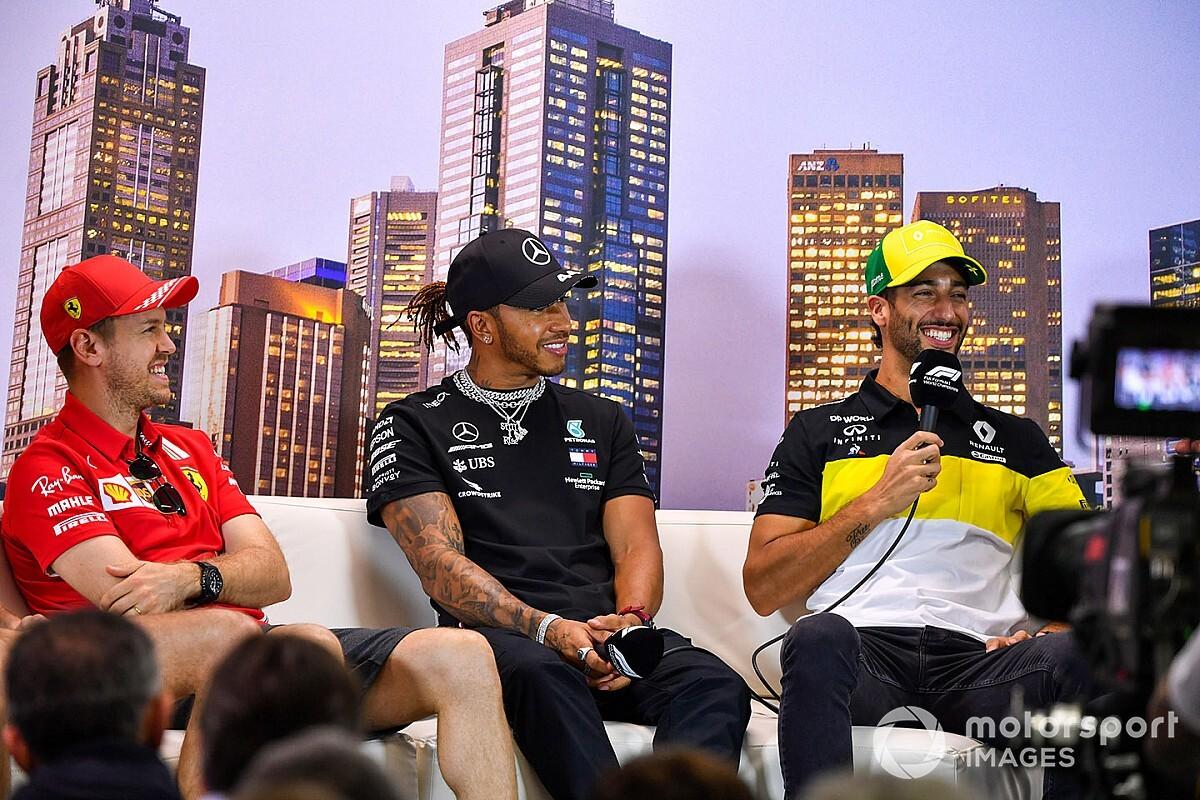 """Ricciardo: """"Hamilton'ı bir kez yenebilirim ama her yıl yenebilir miyim bilmiyorum"""""""