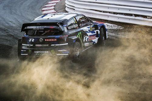 Autos angekommen: Solbergs Team beim WRX-Finale dabei