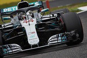 GP Jepang: Hamilton pole ke-80, Ferrari blunder di kondisi menantang