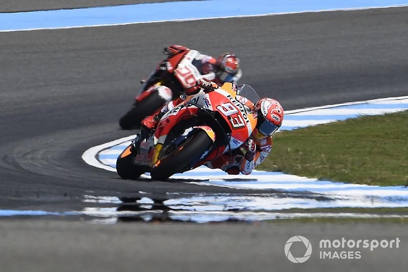 """Márquez: """"Com estas motos é difícil cair, como Lorenzo fez"""""""