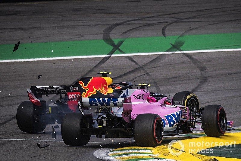 "Verstappen blasts ""idiot"" Ocon after crash"