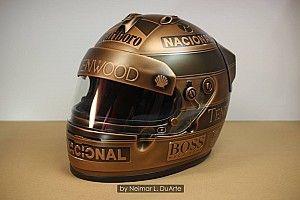 GALERIA: Artista refaz pintura do capacete de Senna em bronze