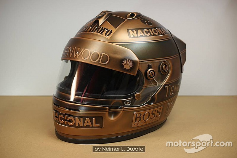 Egy egészen különleges bronz F1-es sisakfestés: Ayrton Senna