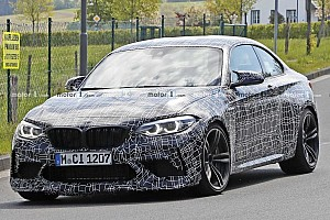 BMW M2 CS spied with hood bulge, bigger rear spoiler