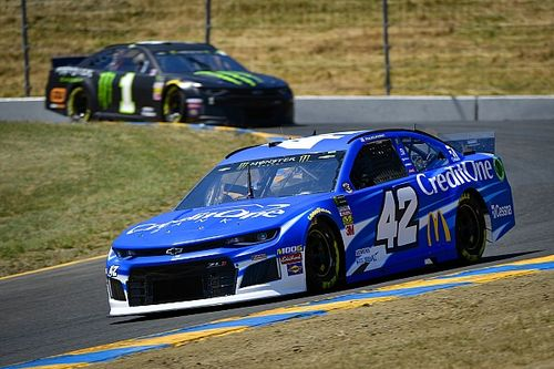 """No win for Kyle Larson at Sonoma but """"better than normal"""""""