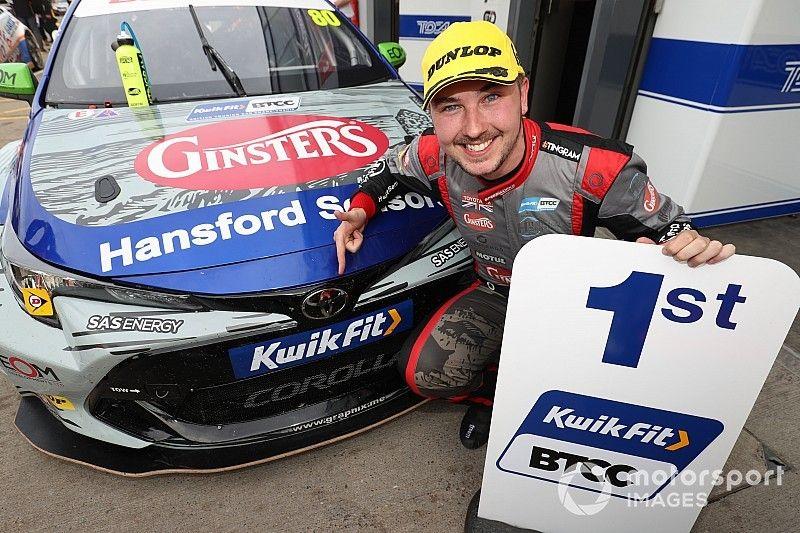 Donington BTCC: Ingram takes first win in new Toyota