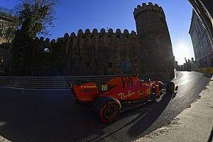 Leclerc volta a mostrar força e lidera treino antes de classificação em Baku