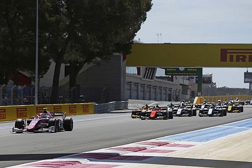 F2 Prancis: Hubert kuasai sprint, Gelael ke-17