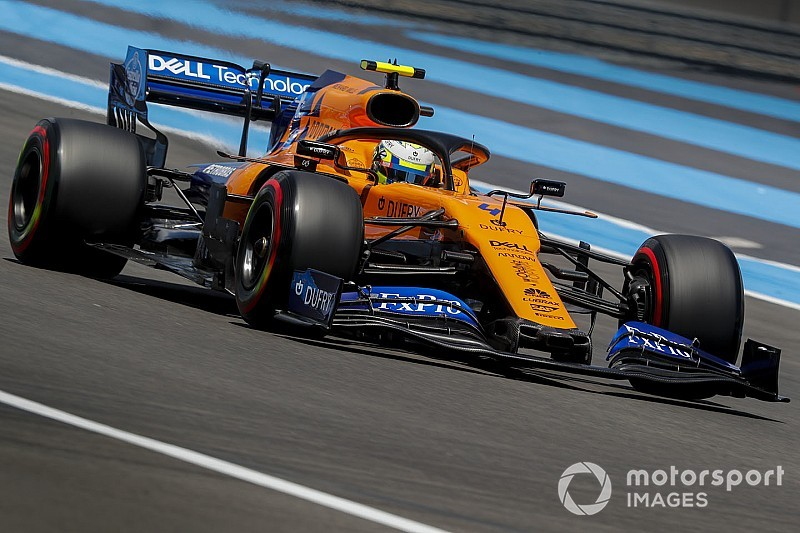 """McLaren looft """"indrukwekkende"""" Norris na overleven van Franse GP"""