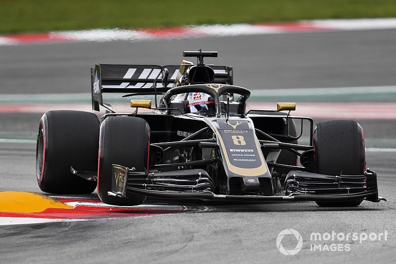 Fotostrecke: Der Schweizer Romain Grosjean beim Grossen Preis von Spanien