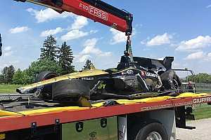 "IndyCar gratified flying cars ""didn't go upside down"" at 220mph"