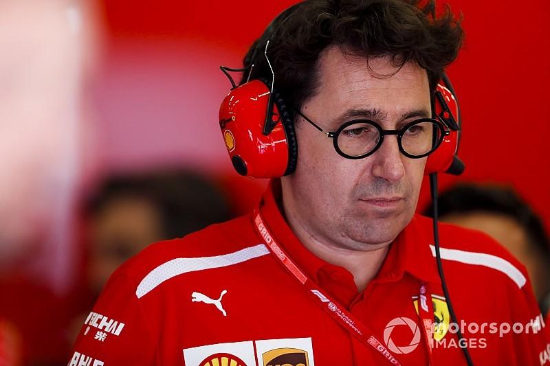 Binotto: Leclerc, hasarlı parçalarla devam etti