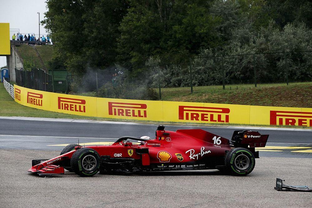 F1: Ferrari trocará motor de Leclerc após colisão no GP da Hungria; piloto será penalizado na próxima mudança