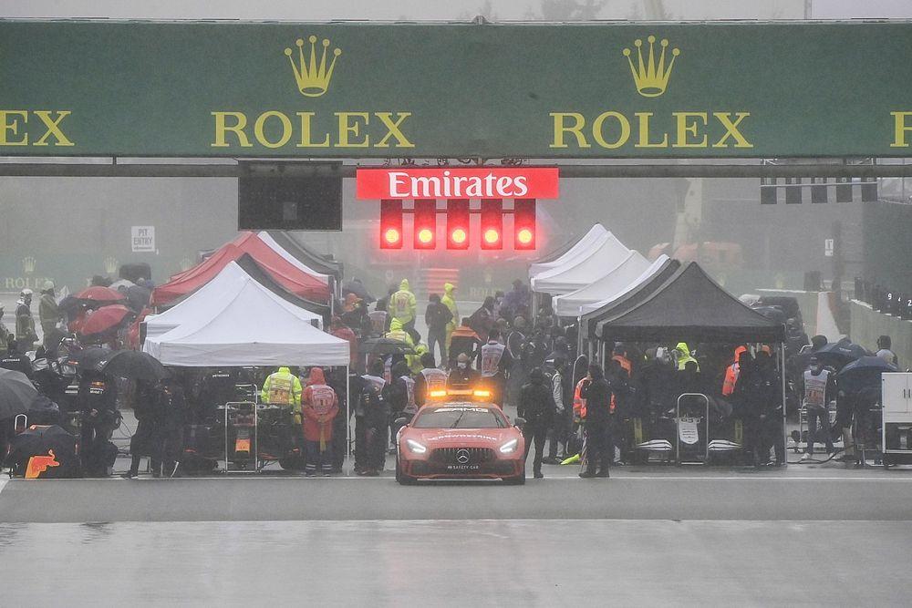 Гонка Формулы 1 в Спа стала самой короткой в истории