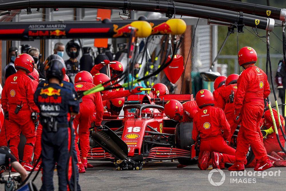 F1: Ferrari explica razão por trás da parada longa de Leclerc em Spa