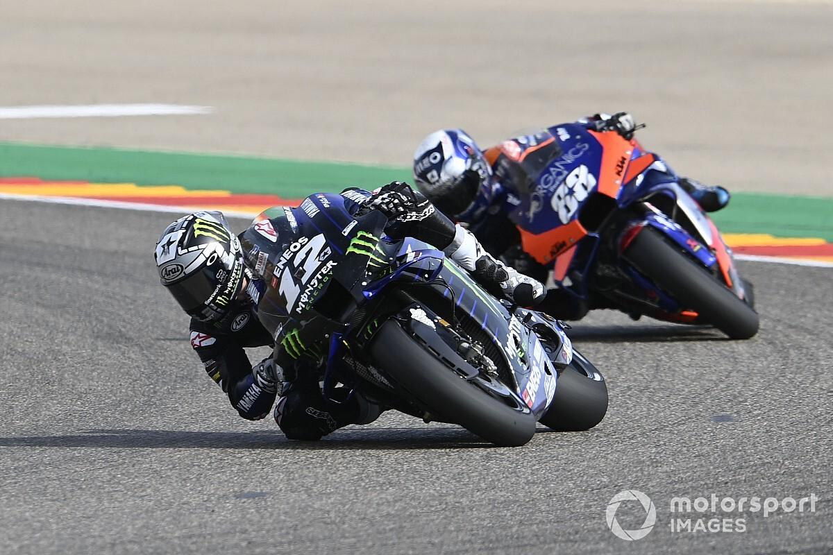 Viñales en difficulté en Aragón : 'C'était très dur de rester sur la moto'