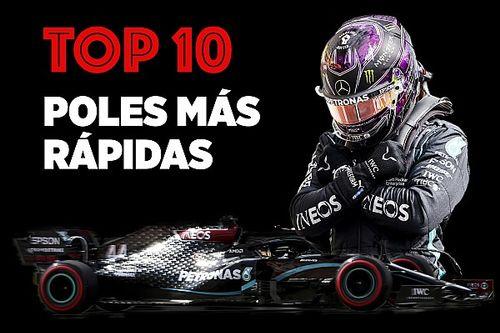 Top 10: pole position más rápidas en la historia de la F1