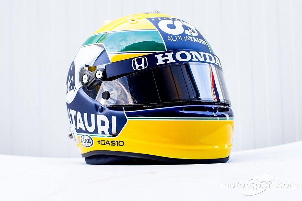 F1, Imola: Gasly svela il casco tributo per Ayrton Senna