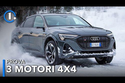 Audi e-tron Sportback S, prova con 3 motori elettrici e 4 ruote motrici