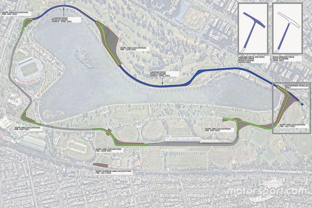 Melbourne átalakítás alatt: ideálisabb előzési pontokat alakítanak ki