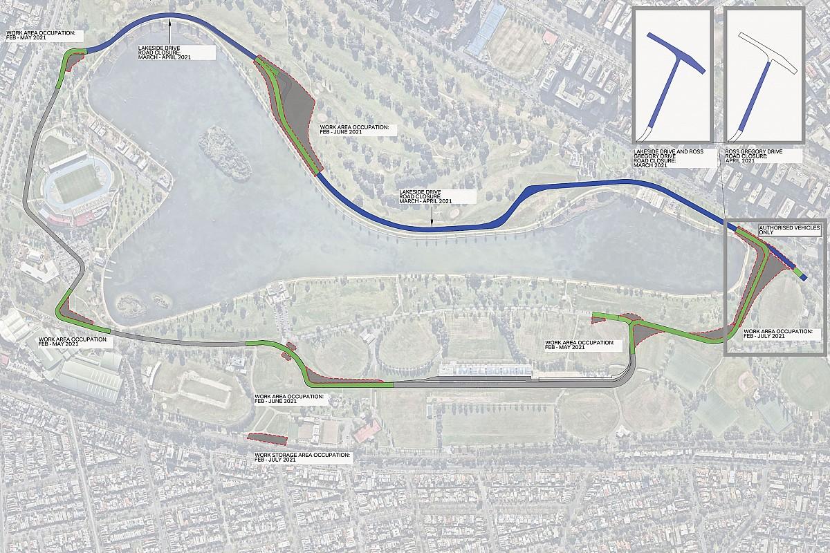 El circuito de Albert Park cambiará su trazado para la F1 2021