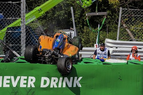 "Masi not planning kerb rethink after Peroni's ""freak"" crash"