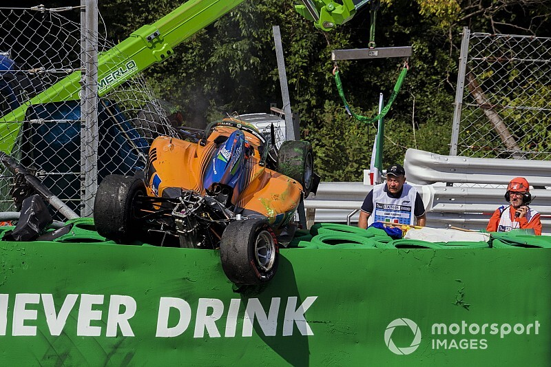 Peroni no recuerda su terrible accidente de Monza