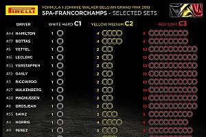 Анонс Гран При Бельгии: выбор шин, элементы силовых установок, штрафные баллы