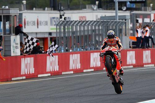 MotoGP日本GP:マルケスが横綱相撲で10勝目! 中上貴晶、粘走で16位