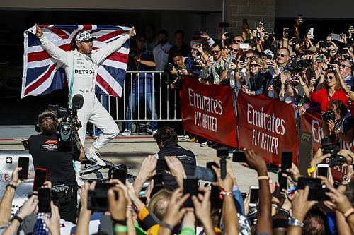 F1アメリカGP決勝:ハミルトン、ファンジオ超え6度目の戴冠。ボッタスが今季4勝目