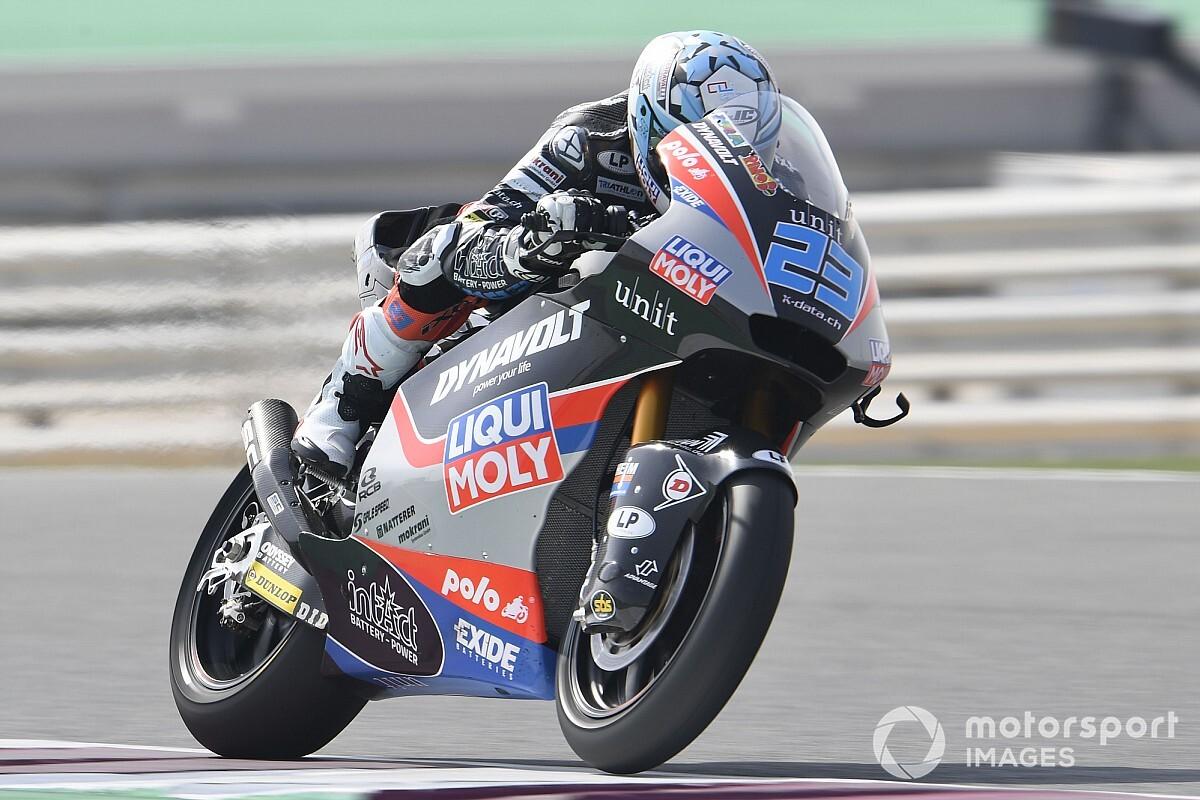 Moto2, Jerez, Libere 3: Schrotter balza al comando