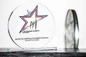 La F2 intitola ad Hubert il premio Best Rookie, assegnato a Zhou