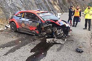 Tremendo accidente de Tanak, Evans se pone líder en Montecarlo