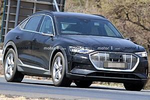 Álca nélkül körözget a bemutató előtt álló Audi e-tron Sportback